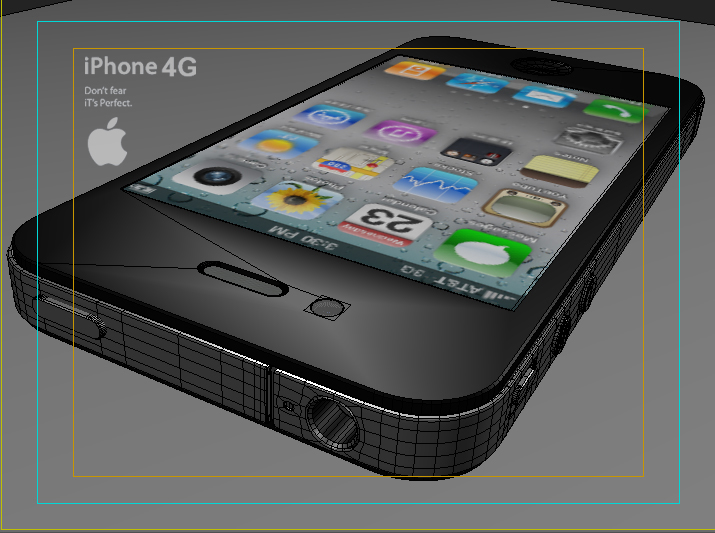 apple iphone 4g 3ds max 3d model 3ds max fbx obj 116657