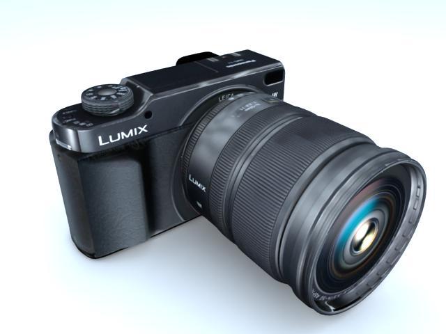 camera 3d model max 113400