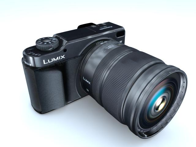 kamera 3d modelis max 113400