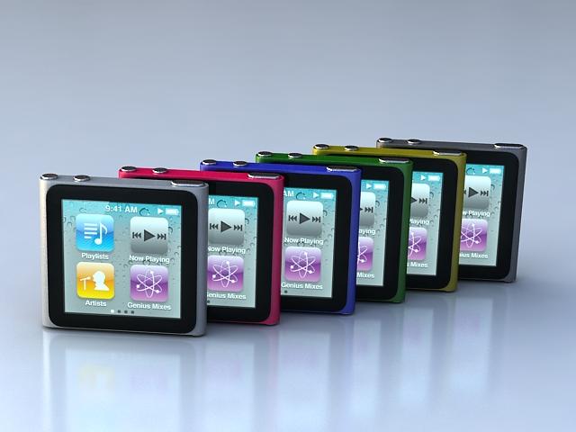 ipod nano 6g 3d model 3ds 113382