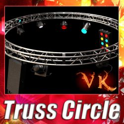 3D Model Circle Truss with Stage Lights High Detai ( 126.35KB jpg by VKModels )