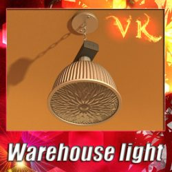 3D Model Industrial Light Fixture ( 113.54KB jpg by VKModels )