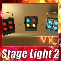 3D Model Moving Head LED Stage Light 02 ( 115.68KB jpg by VKModels )