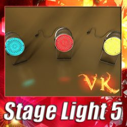 3D Model Spotlight Stage Light 05 ( 111.49KB jpg by VKModels )