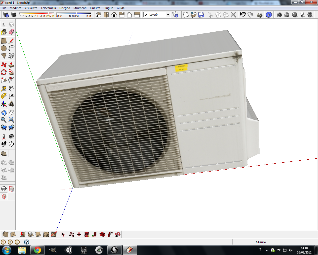 air conditioner 3d modelo fbx skp 130285