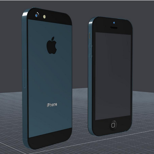 apple iphone 5 cad 3d model 3ds ige igs ig lire 3dm obj 147046