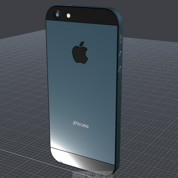 apple iphone 5 cad 3d model 3ds ige igs iges lwo 3dm obj 147049