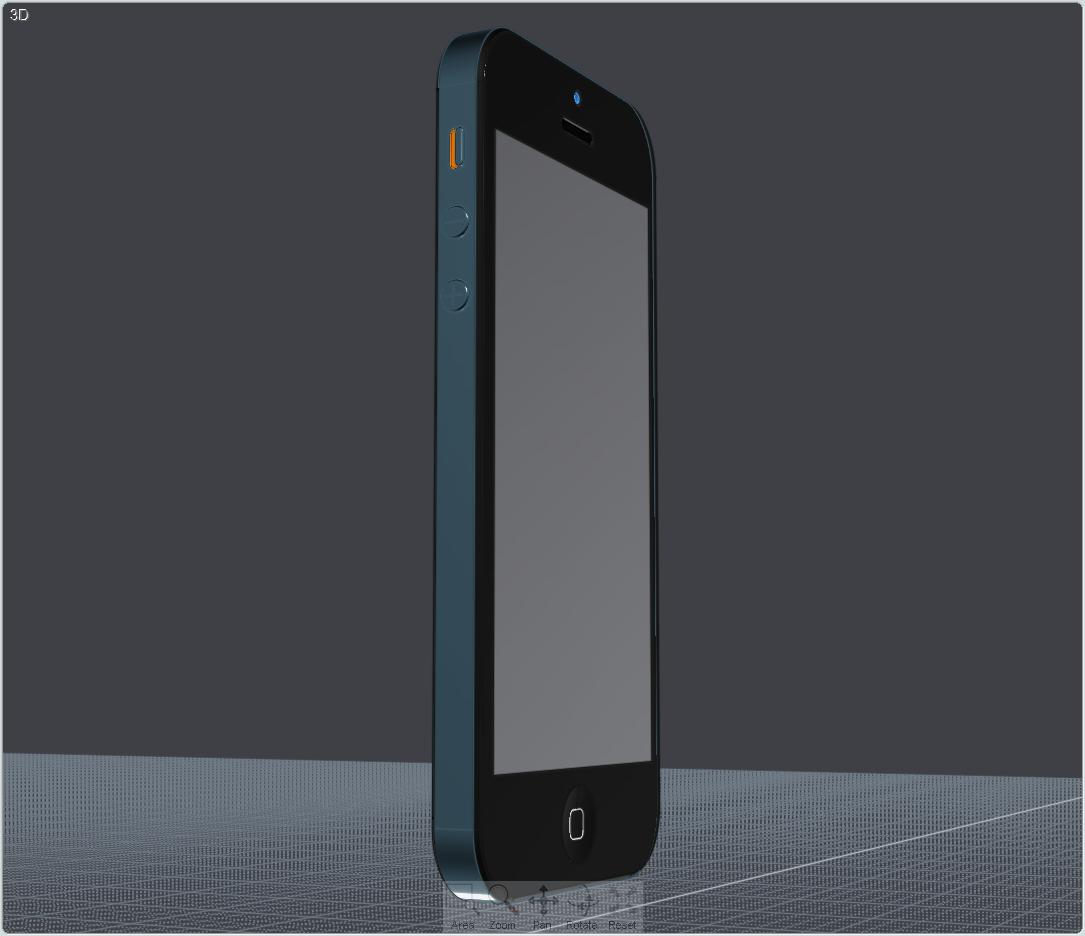 apple iphone 5 cad 3d model 3ds ige igs iges lwo 3dm obj 147050