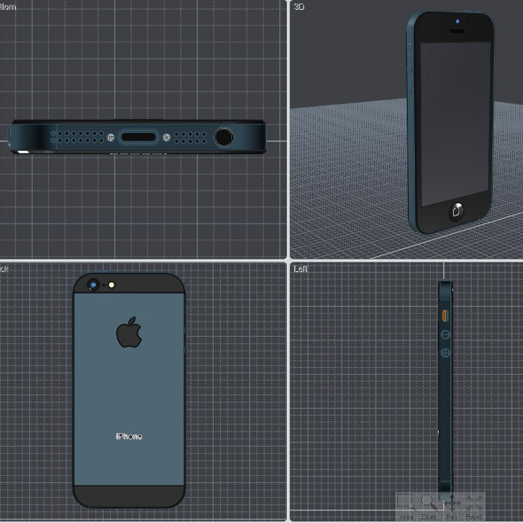 apple iphone 5 cad 3d model 3ds ige igs iges lwo 3dm obj 147051