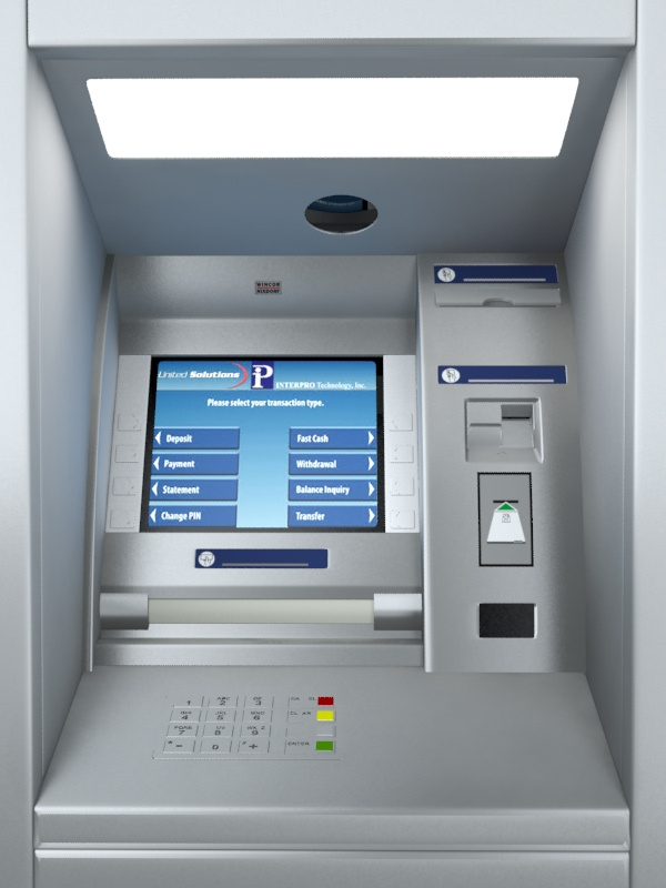 atm machine wincor nixdorf 3d model 3ds max fbx obj 162923