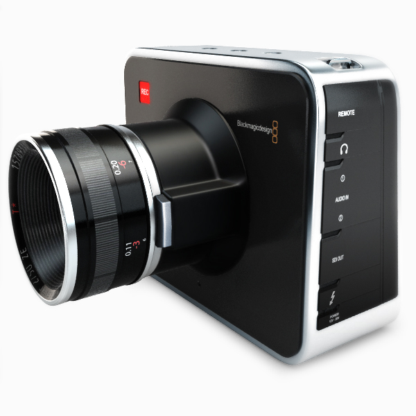 blackmagic camera 3d model 3ds max fbx obj 140414
