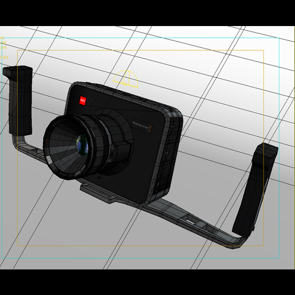 blackmagic camera 3d model 3ds max fbx obj 140422
