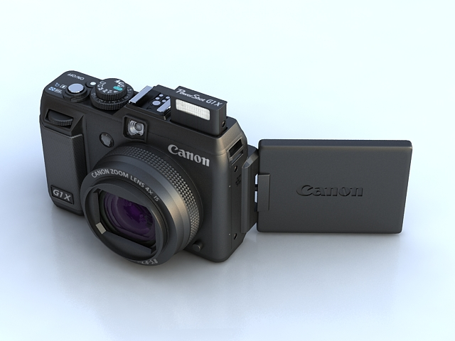 kanon powershot g1 x 3d model max 136906