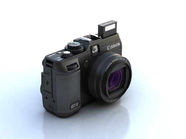 canon powershot g1 x 3d model max 136909