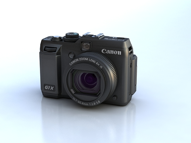 canon powershot g1 x 3d model max 136912
