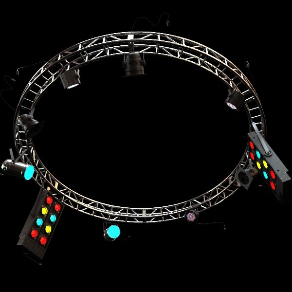 circle truss with stage lights high detai 3d model max fbx obj 130854