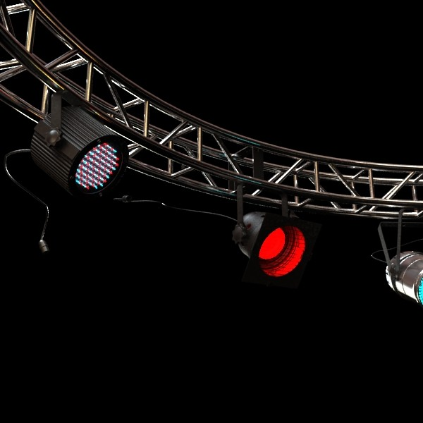 circle truss with stage lights high detai 3d model max fbx obj 130855