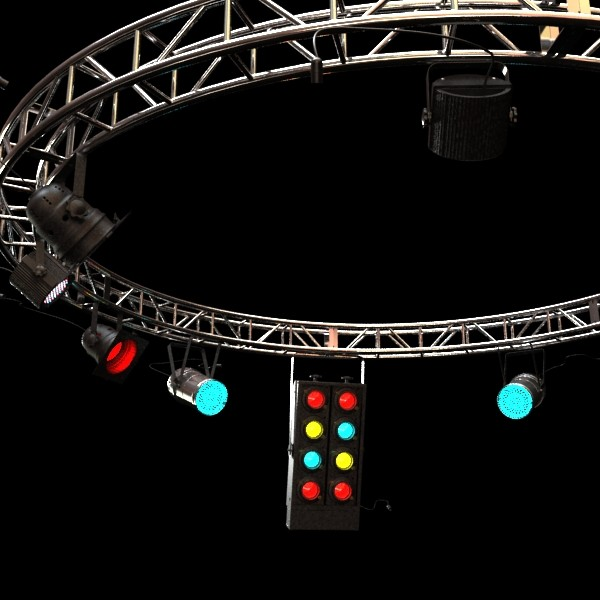 circle truss with stage lights high detai 3d model max fbx obj 130856