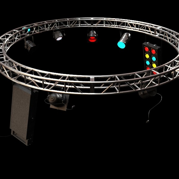 circle truss with stage lights high detai 3d model max fbx obj 130857