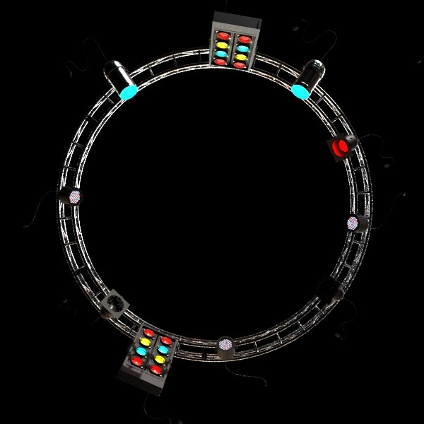 circle truss with stage lights high detai 3d model max fbx obj 130858