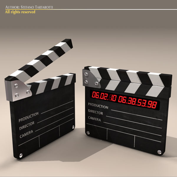 clapperboard 3d model 3ds dxf fbx c4d dae obj 118949