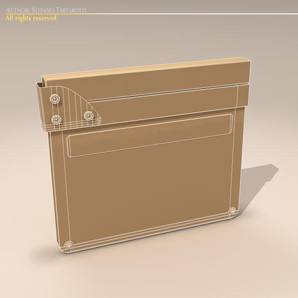 clapperboard 3d model 3ds dxf fbx c4d dae obj 118953