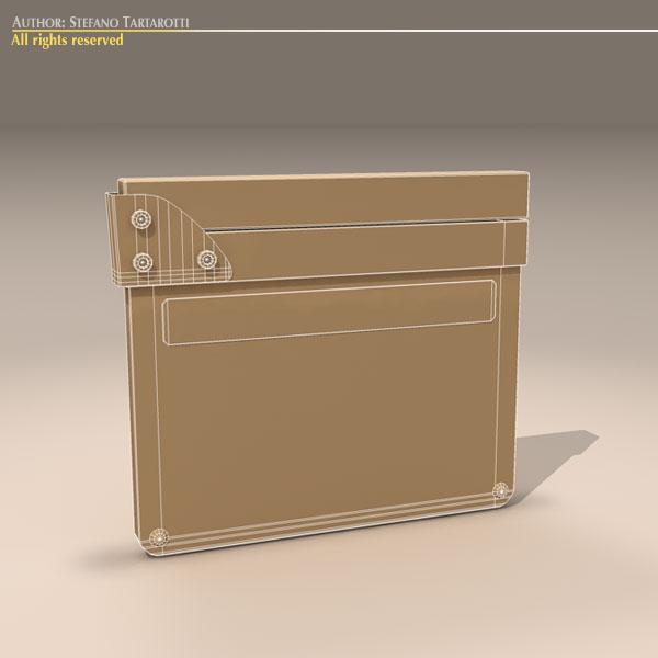 clapperboard 3d model 3ds dxf fbx c4d dae obj 118954