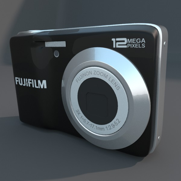 kamera digital fuji av 100 3d model 3ds fbx blend obj 120542