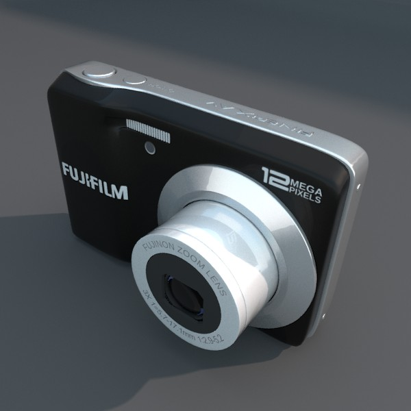 digital camera fuji av 100 3d model 3ds fbx blend obj 120544