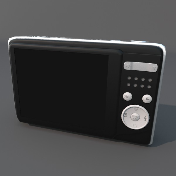 digital camera fuji av 100 3d model 3ds fbx blend obj 120545