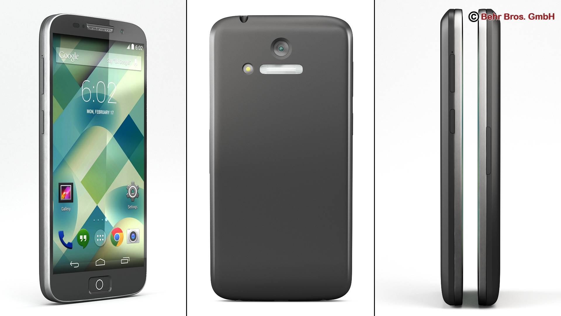 generic smartphone 4.6 inch 3d model 3ds max fbx c4d lwo ma mb obj 161635