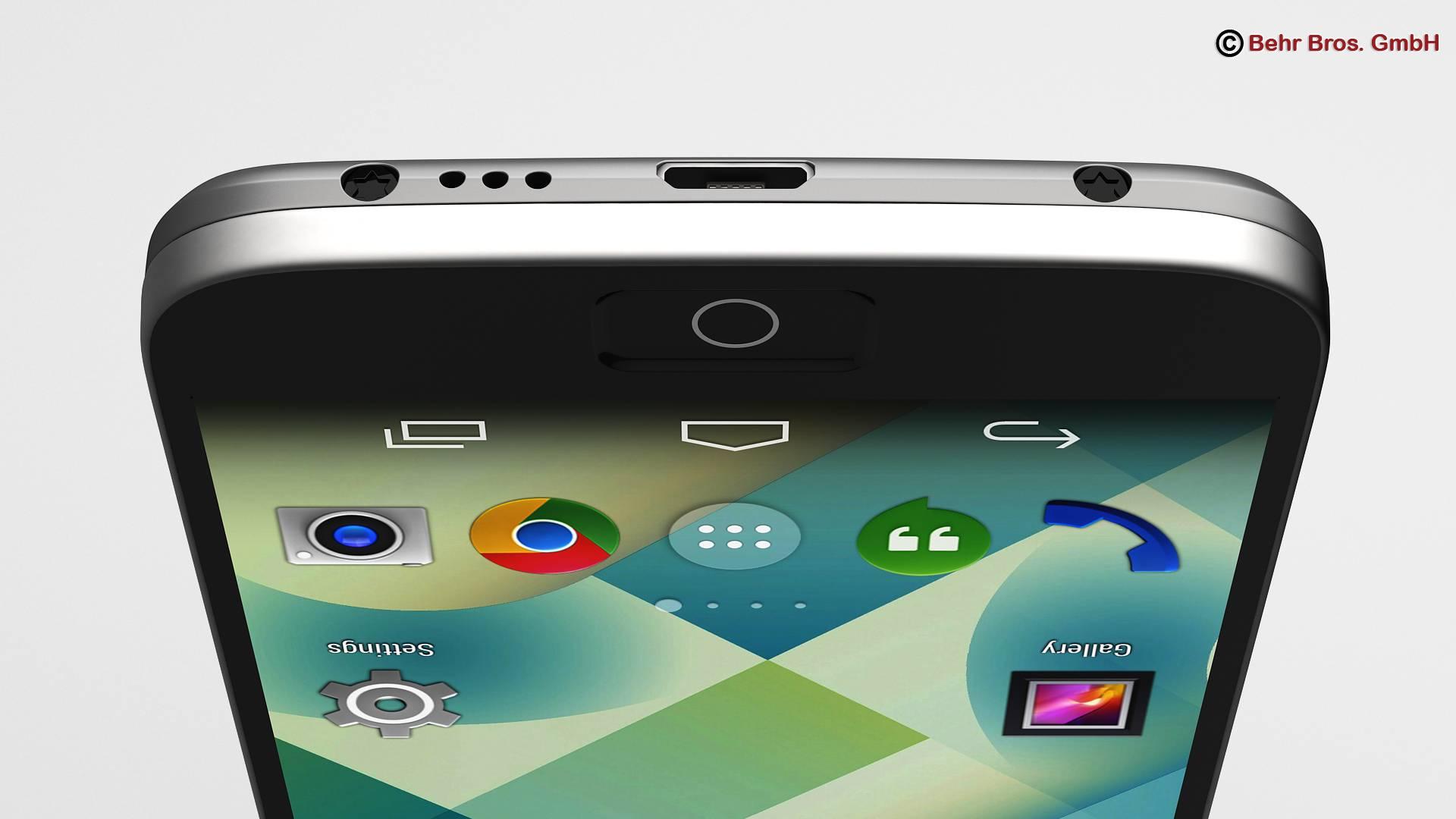 generic smartphone 4.6 inch 3d model 3ds max fbx c4d lwo ma mb obj 161640