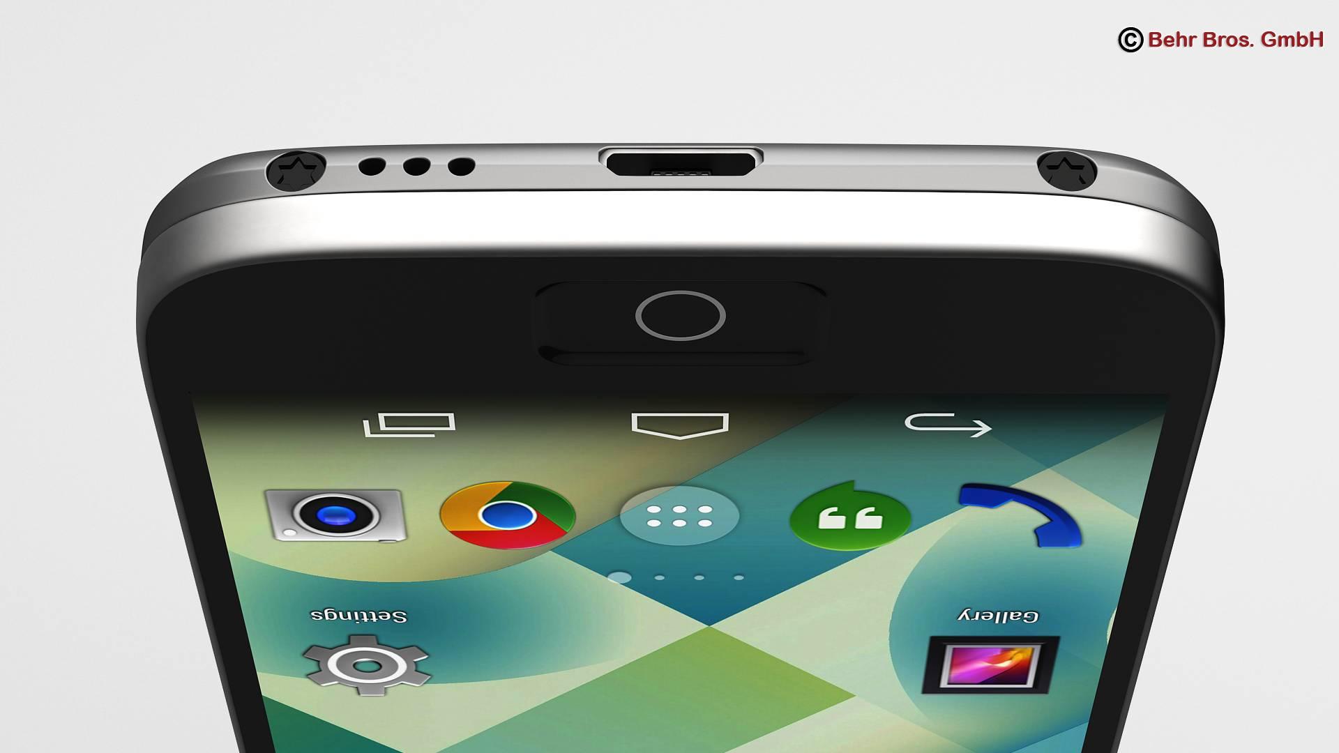 generic smartphone 4 inch 3d model 3ds max fbx c4d lwo ma mb obj 161628