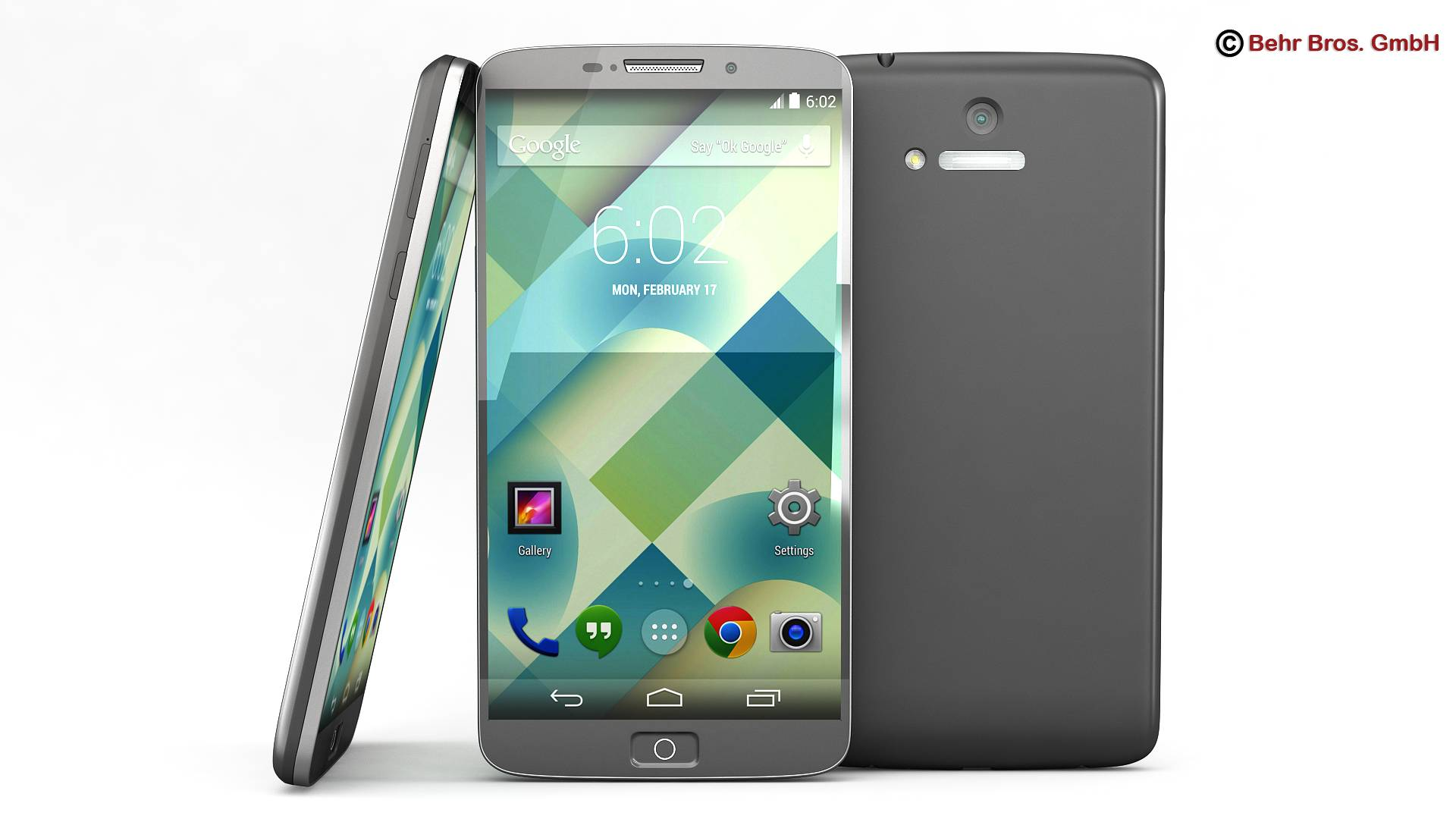 generic smartphone 6 cal 3d model 3ds max fbx c4d lwo ma mb obj 161658