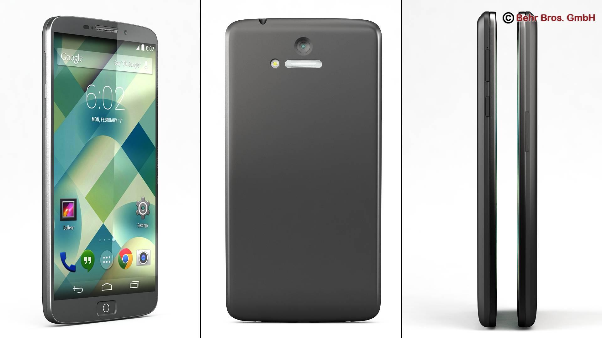 generic smartphone 6 inch 3d model 3ds max fbx c4d lwo ma mb obj 161659