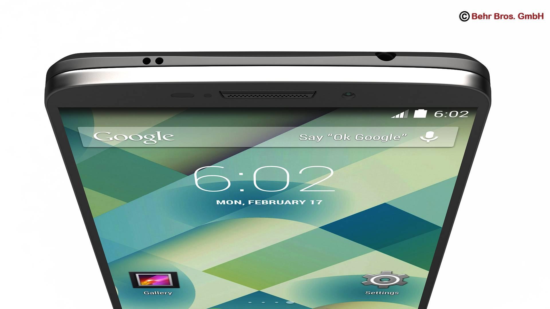 generic smartphone 6 inch 3d model 3ds max fbx c4d lwo ma mb obj 161661
