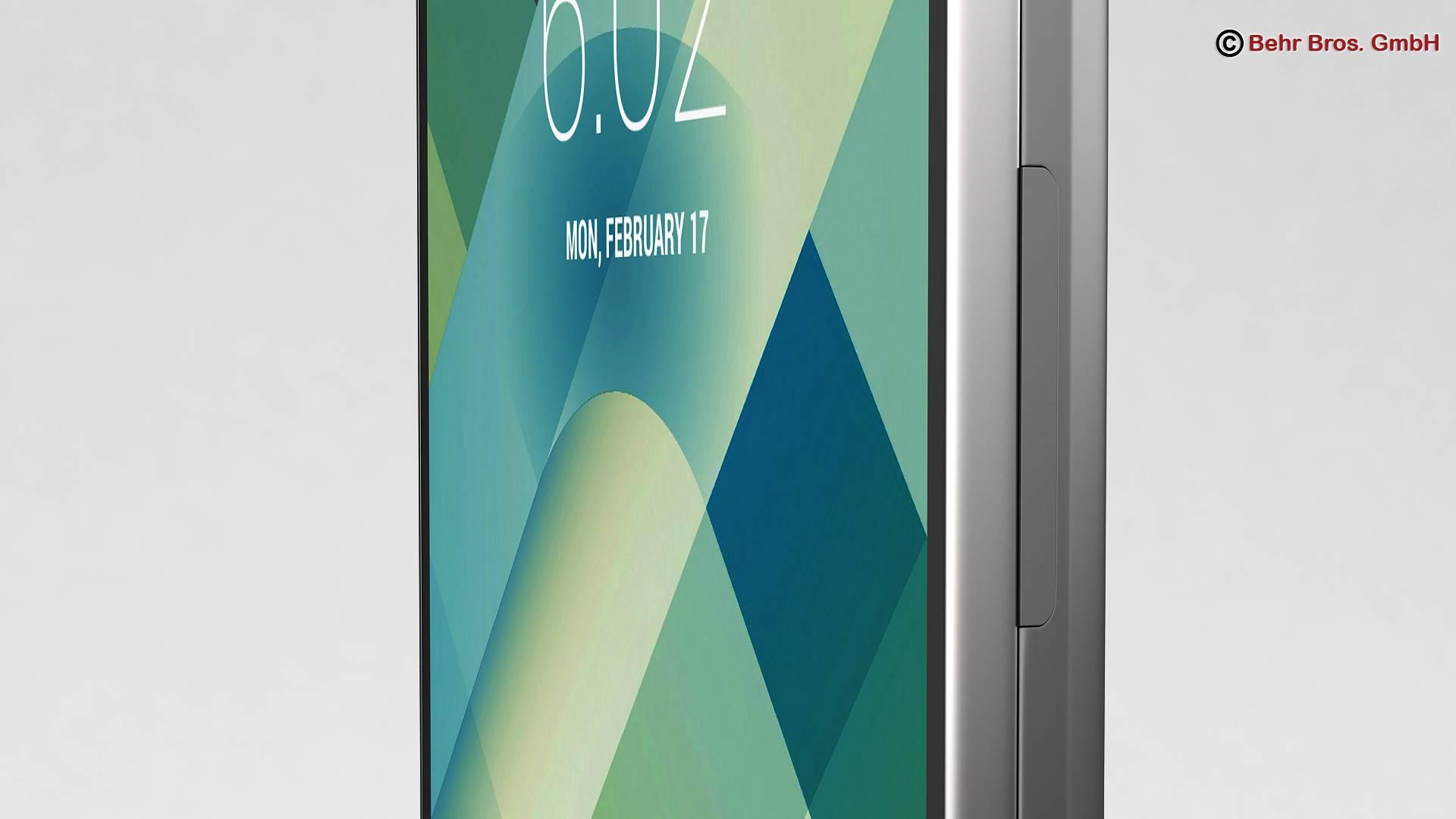 generic smartphone 6 inch 3d model 3ds max fbx c4d lwo ma mb obj 161662