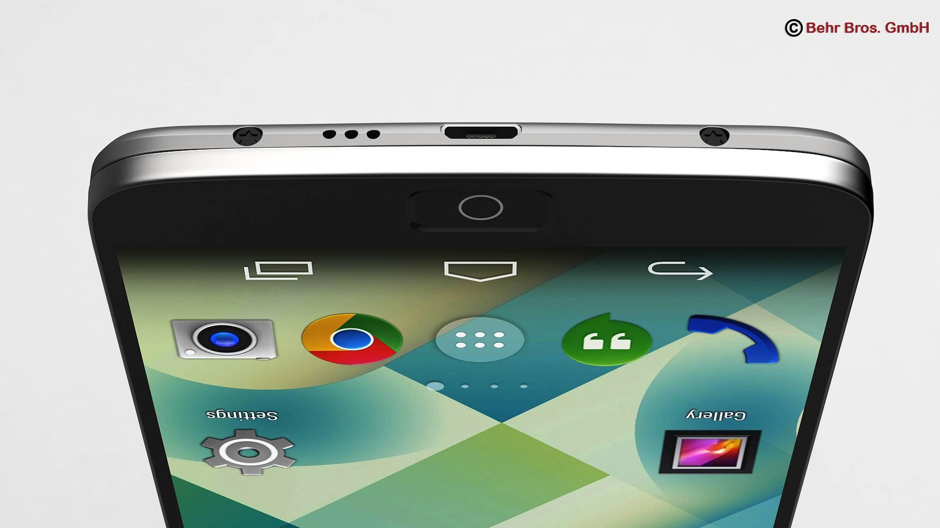 generic smartphone 6 inch 3d model 3ds max fbx c4d lwo ma mb obj 161664