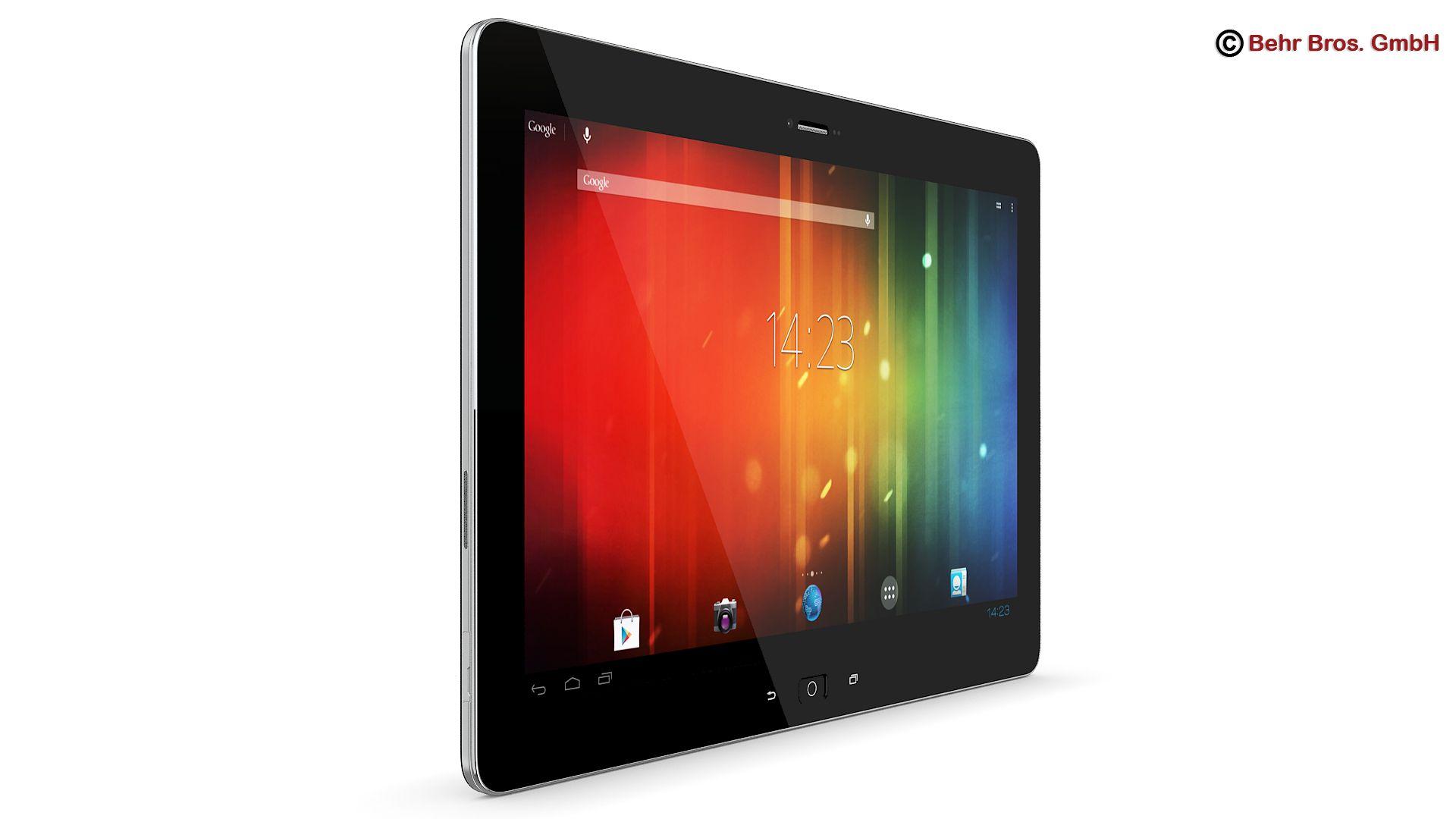 generic tablet 10.1 inch 3d model 3ds max fbx c4d lwo ma mb obj 162880