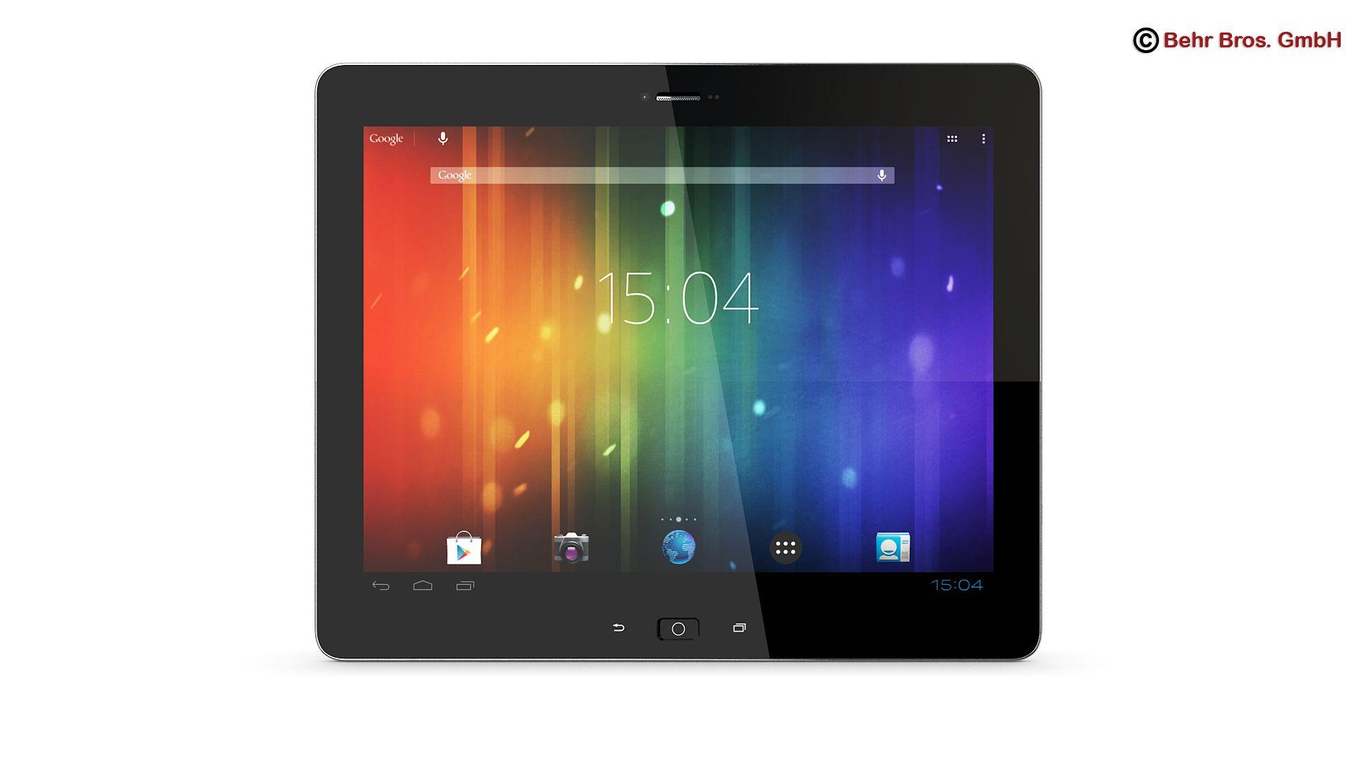 vispārēja tablete 9.7 collas 3d modelis 3ds max fbx c4d lwo ma mb obj 162901