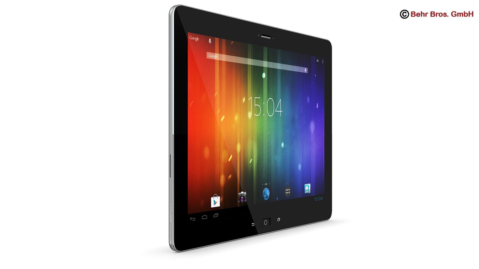 generic tablet 9.7 inch 3d model 3ds max fbx c4d lwo ma mb obj 162902