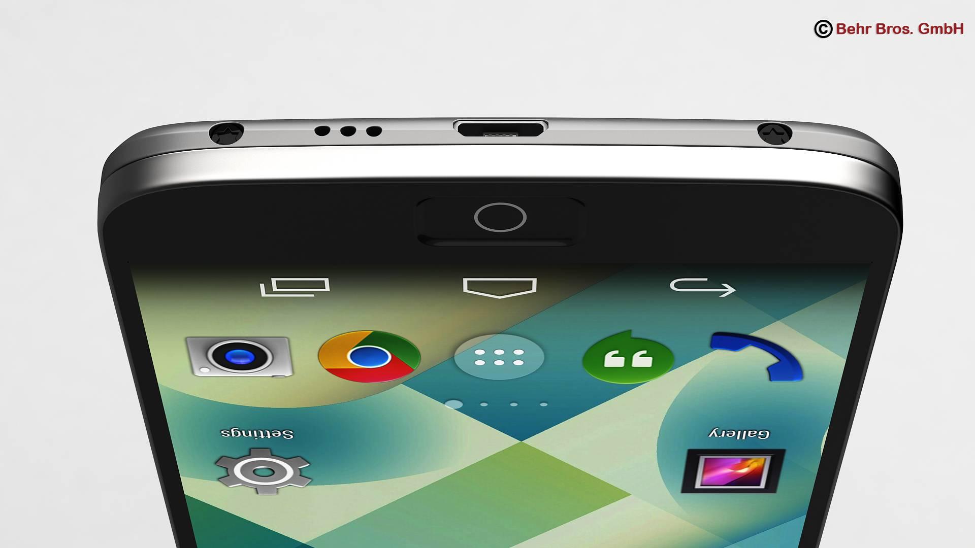 Generic Smartphone 5.2 Inch 3d model 3ds max fbx c4d lwo lws lw ma mb obj 161652