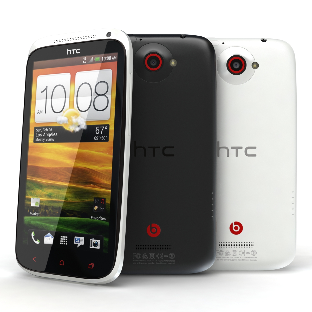 htc one x + crno-bijelo 3d model 3ds max fbx c4d lwo obj 151431