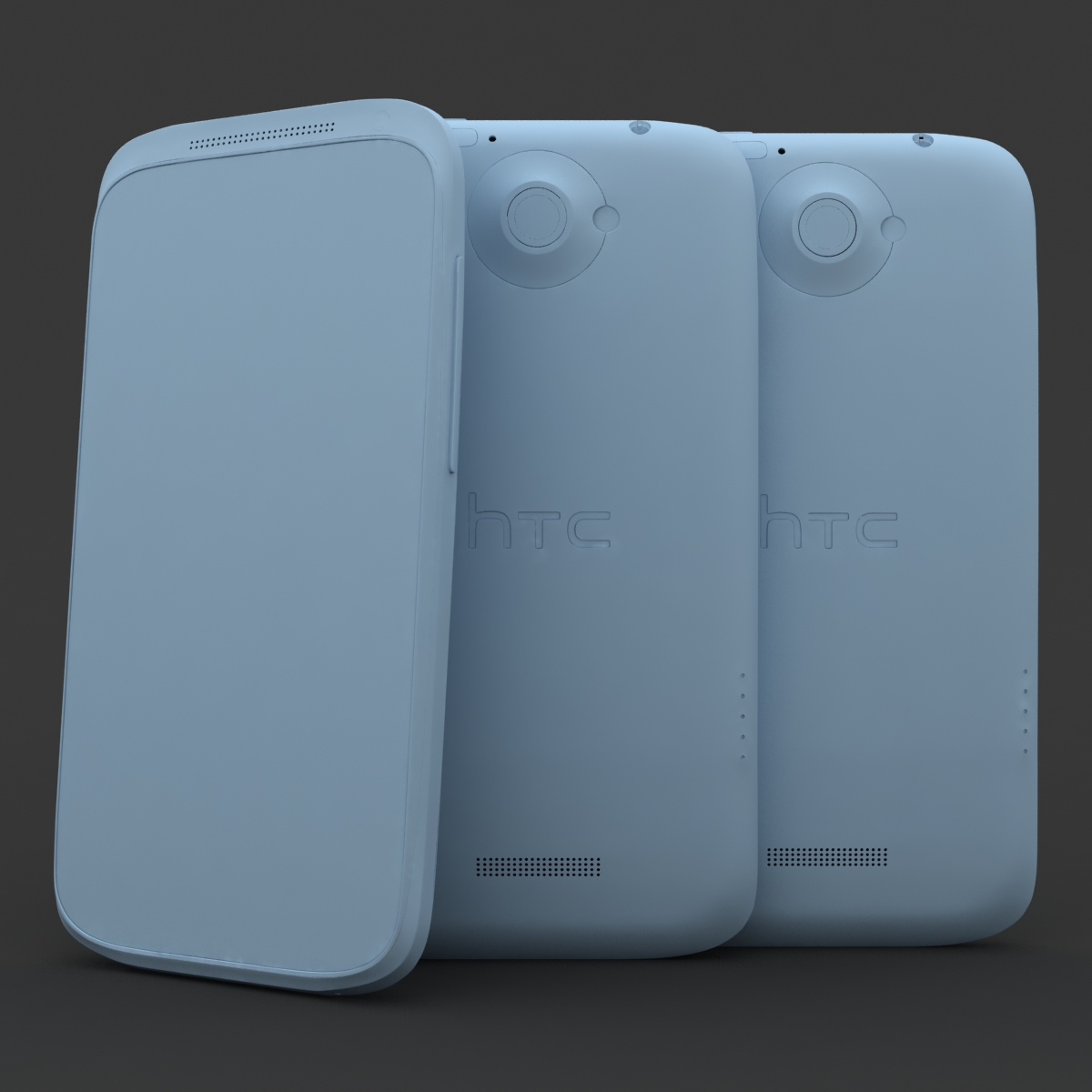 htc one x+ black and white 3d model 3ds max fbx c4d lwo obj 151432