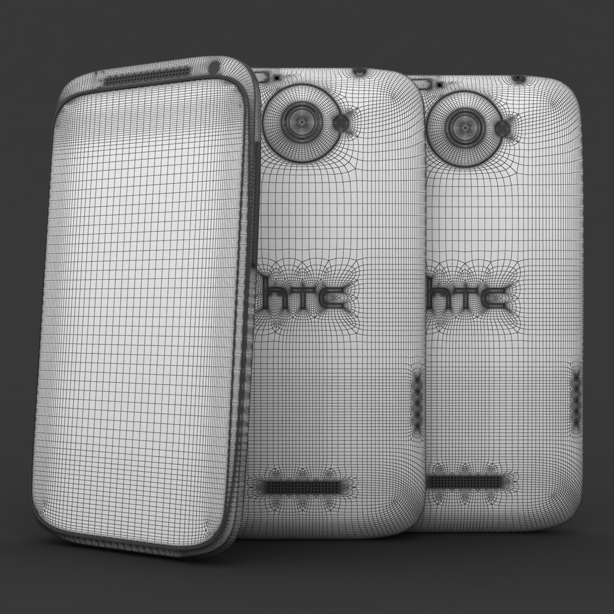 htc one x+ black and white 3d model 3ds max fbx c4d lwo obj 151433