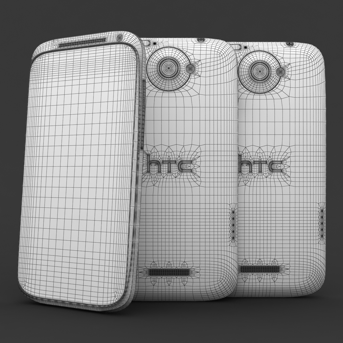 htc one x+ black and white 3d model 3ds max fbx c4d lwo obj 151434