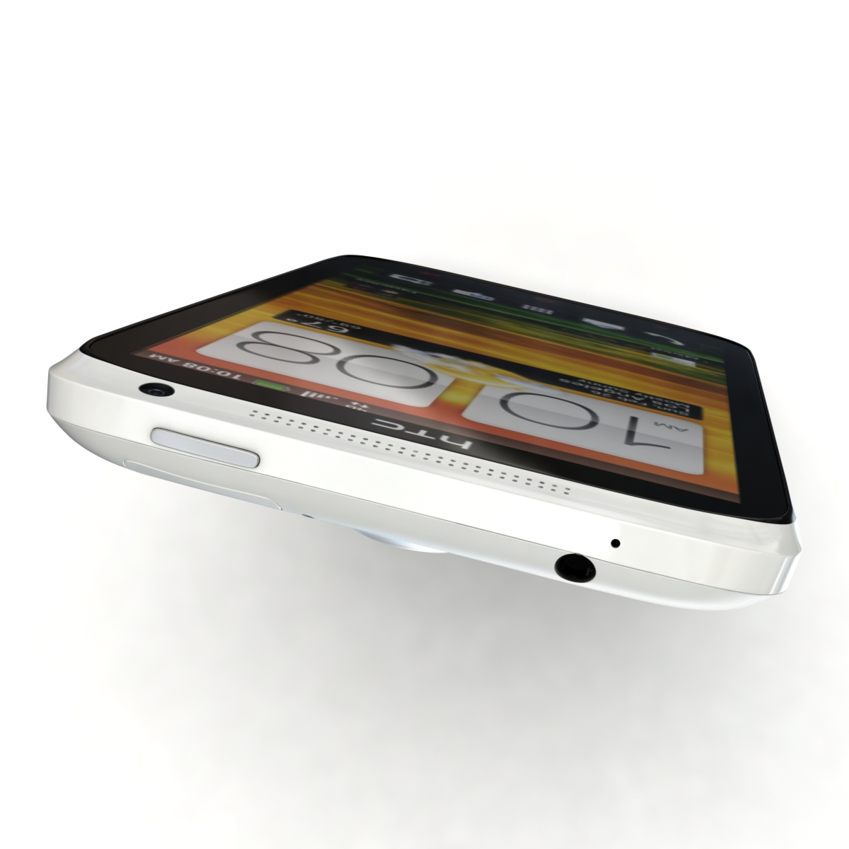 htc one x+ black and white 3d model 3ds max fbx c4d lwo obj 151472