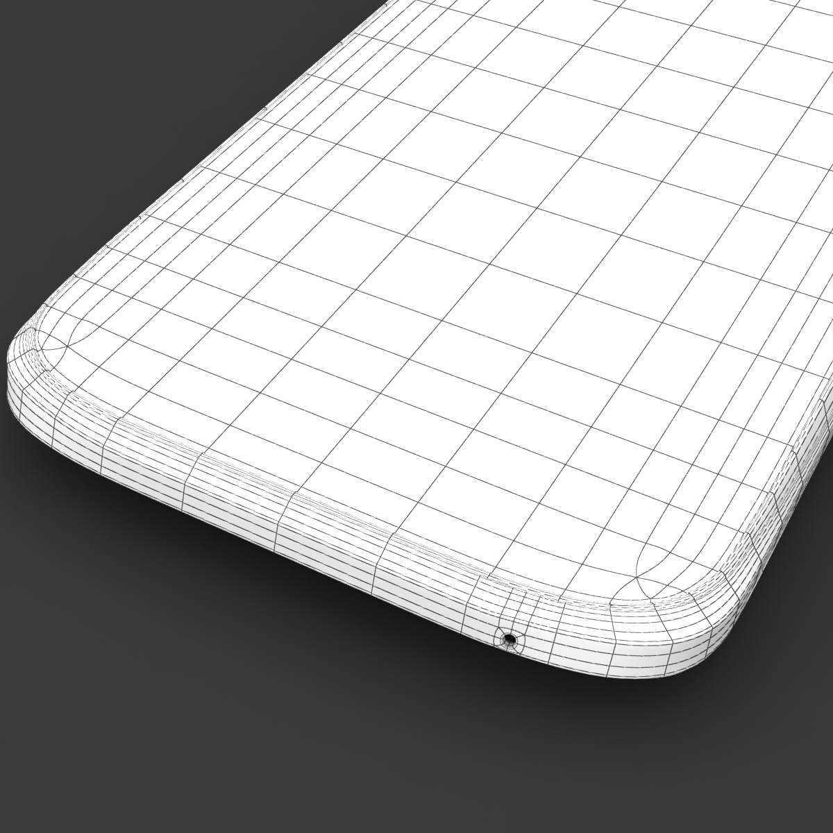 htc one x+ black and white 3d model 3ds max fbx c4d lwo obj 151476