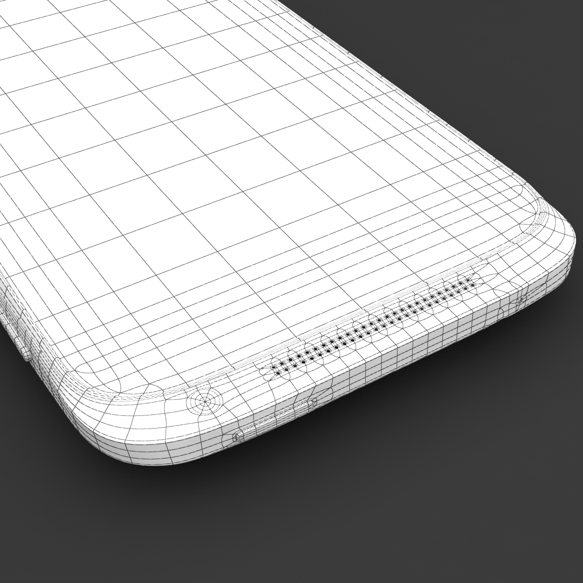 htc one x+ black and white 3d model 3ds max fbx c4d lwo obj 151477