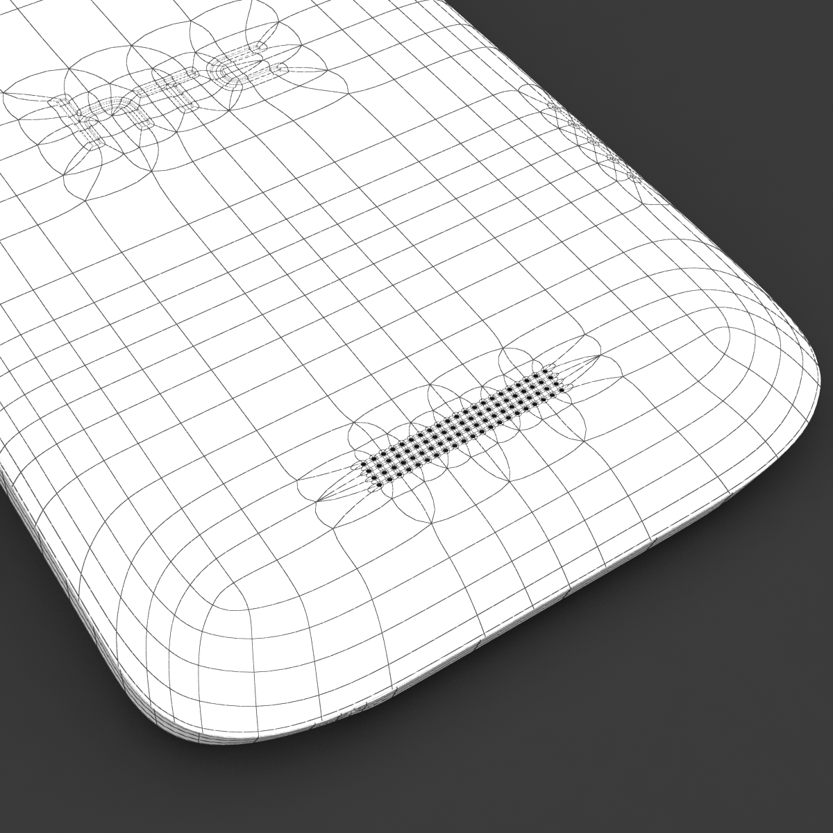 htc one x+ black and white 3d model 3ds max fbx c4d lwo obj 151479